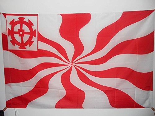 AZ FLAG Bandera de la Ciudad Imperial Libre DE MULHOUSE 150x90cm para Palo - Bandera RÉPUBLIQUE DE MULHOUSE - Francia 90 x 150 cm
