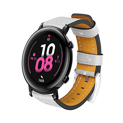 Romacci Pulseira de relógio de couro de 20mm pulseira de substituição de liberação rápida pulseira inteligente para homens e mulheres compatível com HUAWEI WATCH GT 2 42mm / HONOR MagicWatch 2 42mm