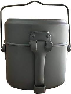 yiyue キャンプ 飯ごう 飯盒 ハンゴウ兵式 ランチボックス アルミ 弁当箱 アウトドア BBQ用 炊飯器