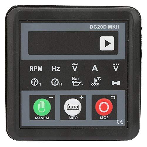 Panel de control de generador de pantalla digital LED Indicación rápida Controlador de generador electrónico MKII DC20D DC 8-36V Automotriz para motor diesel o generador