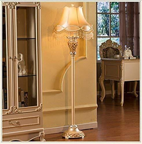 CLJ-LJ Lámpara de pie de estilo europeo de lujo para salón, retro, creativo, estudio, dormitorio, lámpara de noche moderna, vertical, cuidado de los ojos, luz de suelo vertical.
