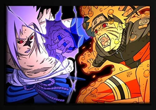 ndegdgswg Pintura al óleo Hecha a Mano, Naruto, Fox, Naruto Sasuke, Animado de Dibujos Animados, cómics, Dormitorio de niños
