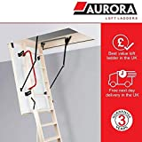 Aurora Thermo Folding Timber Attic / Loft Ladder & Insulated Hatch. 55 x