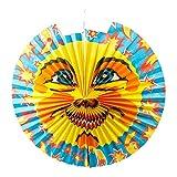 Idena 8312516 - Laterne Sonne, Durchmesser 46 cm, Papier, Lampion, Laternenumzug, St. Martin, Dekoration