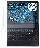 Bruni Schutzfolie kompatibel mit Samsung Galaxy TabPro S Folie, glasklare Bildschirmschutzfolie (2X)