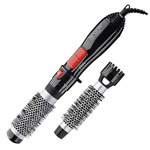 Revlon Ceramic Hot Air Brush Kit with 1 Inch And 1-1/2 Inch Brush Attachments