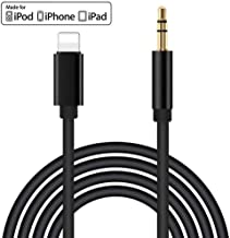 [Apple MFi Certified] iPhone Aux Cord for Car,Lightning to 3.5mm Audio Stereo Cable Compatible for iPhone 11/11 Pro/XS/XR/X 8 7 iPad/iPod for Car/Home Stereo, Speaker, Headphone, Support All iOS
