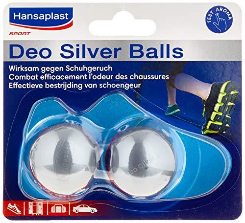 Hansaplast Deo Silver Balls schoenverfrisser, geurverwijdering, verpakking van 2 (2 x 2 stuks)