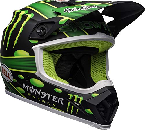 Bell MX-9 MIPS Off-Road Motorcycle Helmet (Showtime Replica Matte Black/Green, Small)
