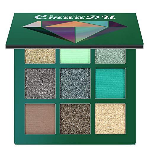 Auifor Cosmetic Matte Eyeshadow Cream Makeup Palette Shimmer Set 9 Farben Lidschatten