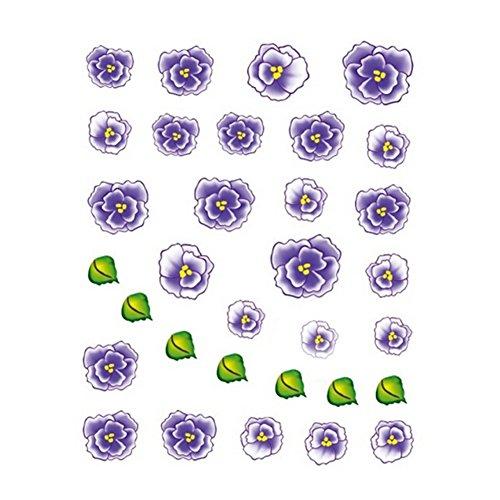 5Pcs Belle Motif Fleurs Nail Art Tips Sticker Décoration, BLE2024