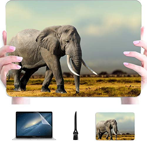 Case For Mac African Elephant Masai Mara National Park Plastic Hard Shell Compatible Mac Air 13' Pro 13'/16' 15 Inch Macbook Case Protective Cover For Macbook 2016-2020 Version
