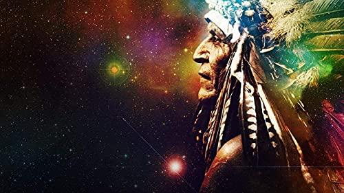 HJHJHJ Rompecabezas de Papel 1000 Piezas Indian Chief de Gran tamaño 1000 Piezas de Rompecabezas de Papel, Decoraciones hogar 70x100cm