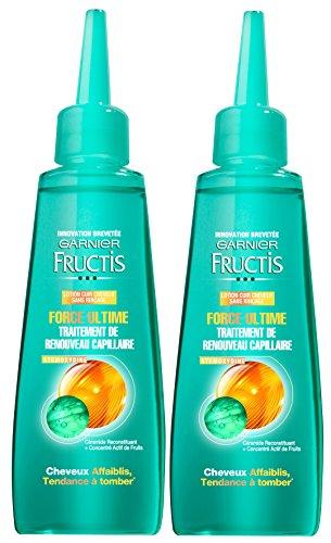 Garnier-Fructis Force Ultime-Suero para cabello frágil -Lote de 2