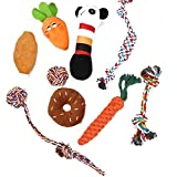 Jinyank Dog Chew Toys Pet Interactive Chewing Toy Durable Teeth Cleaning Chewing Rope Toys Plush Squeaky Sound Toys for Small Medium Dogs