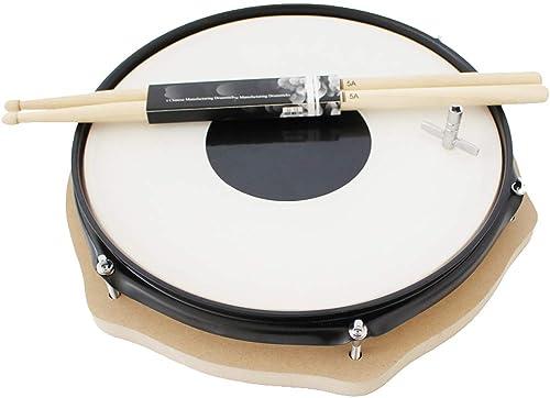HXGL-Trommel Drum Drum Set für übungs-Anf er-Einsteiger (Farbe   Weiß Größe   Dumb Drum)