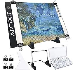 powerful ARTDOTA 4 LED panel for diamond painting, USB light board kit, dimmable …