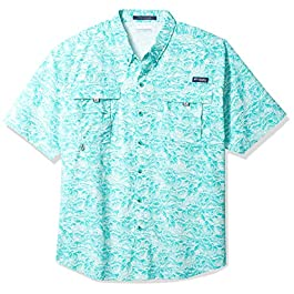 Columbia Men's PFG Super Bahama Short Sleeve Shirt Athletic-t-Shirts