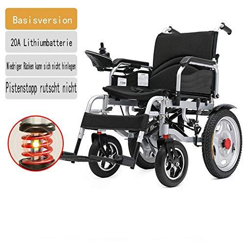 Y-L Elektrische rolstoelen voor geavanceerd gehandicapten, zilverkleurig, lithium-polymeer-batterij van het vliegtuig, opvouwbaar, licht, klaar voor cruisen, grijs, 20 A, zwart