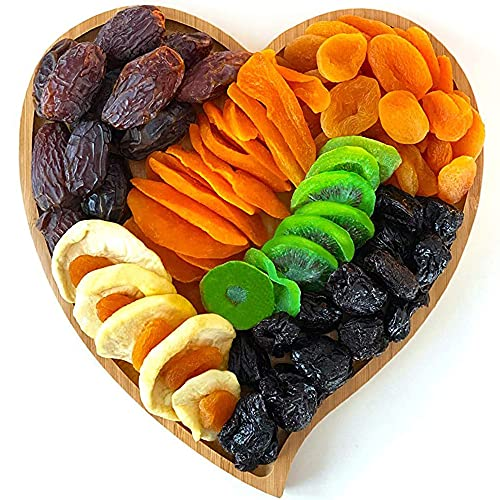 Dried Fruit Gift Basket, Healthy Vegan Gourmet Snack Box, Holiday Dry Fruit Box for Sympathy, Birthday, Get Well, Housewarming