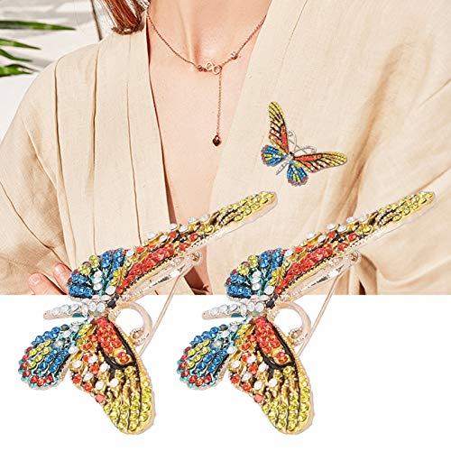 Accesorio de ropa, Broche de feria comercial, Mariposa Negocio de moda para mujeres de regalo de feria comercial(color)