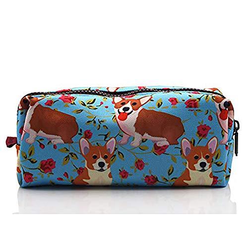 LParkin Cute Corgi Pencil Case for girls Pouch Teacher Gift Gadget Bag Make Up Case Cosmetic Bag stationary school supplies kawaii pencil box