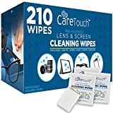 Care Touch Lens Cleaning Wipes | 210 Pre-Moistened and Individually Wrapped Lens Cleaning Wipes | Great for...