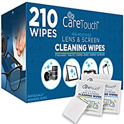 powerful Care Touch Lens Cleaning Wipe | 210 Lens Cleaning Tissues, Moistened and Packed Separately |…