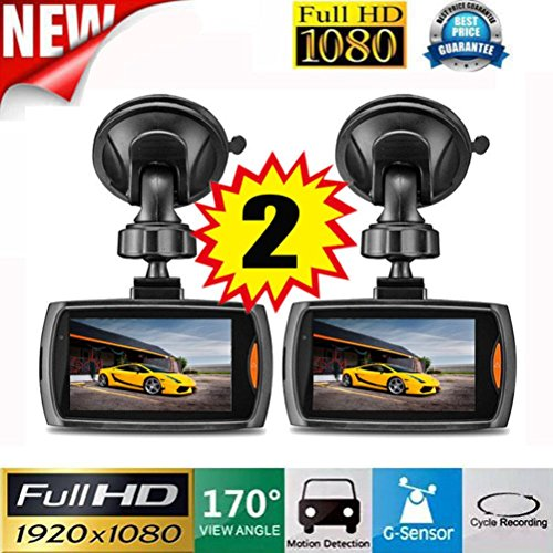 2x Auto Dash Cam Telecamera per Full HD...