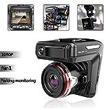 HWUKONG Dashcam, Driving Recorder, Dash Cam fürs Auto, 1080P FHD-LCD-Bildschirm, Doppelobjektiv-Weitwinkelobjektiv, G-Sensor, WDR, Schleifenaufnahme, Nachtmodus, Bewegungserkennung