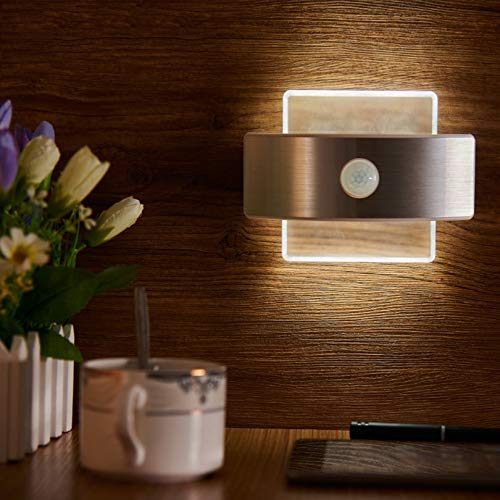 Sensor de movimiento PIR LED recargable con LED Night Light LED Wireless lámpara de pared automática ON/OFF para KID Pathway Stairway Stairway Nevera