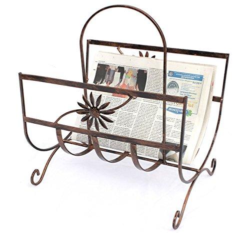 DanDiBo Zeitungsständer Art.169 aus Metall 37 cm Zeitungshalter Beistelltisch Zeitungsko