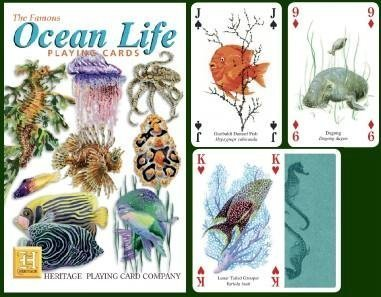 The Famous Ocean Life Playing Cards by Heritage