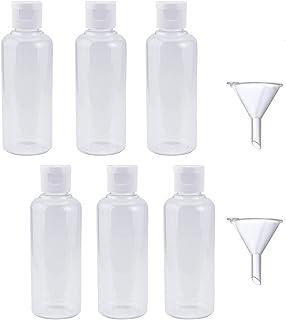r/écipients vides avec bouchons /à rabat. Bouteilles vides en plastique de 50 ml avec petits mousquetons al/éatoires bouteilles de voyage rechargeables en plastique transparent