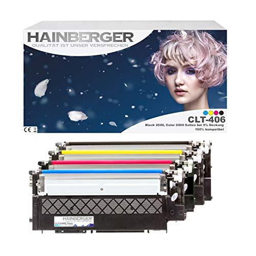 4X Hainberger XL Toner kompatibel zu Samsung Xpress C410W CLP-365/SEE CLP-365 360 Series CLX 3300 Series 3305 FN FW Xpress C 460 FW