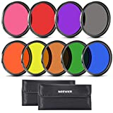 Neewer 9 Pieces 58MM Full Color Lens Filter Set for Camera Lens with 58MM Filter Thread In...