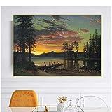 Xynfl Albert Bierstadt 《Twilight, Lake Tahoe》 Leinwand