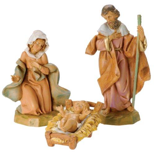 Fontanini by Roman Classic Holy Family Nativity Set, 3-Piece, 5-Inch Each