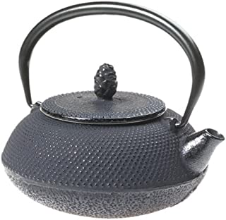 Joyce Chen 90-0065, 11-Ounce Cast Iron Hob Nail Teapot, Black