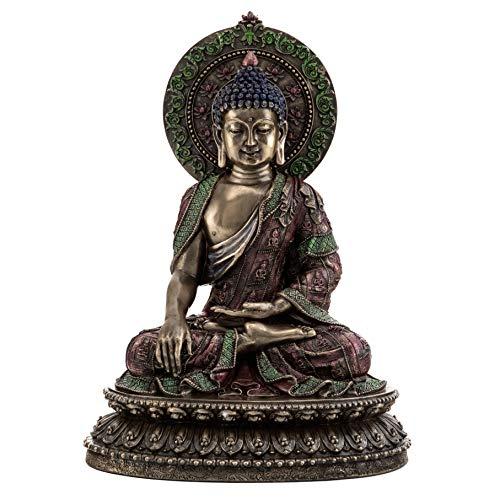 Top Collection Shakyamuni Buddha Statue- 'The Enlightened One' Sculpture in Cold Cast Bronze-10.5-Inch Supreme Buddha Figurine