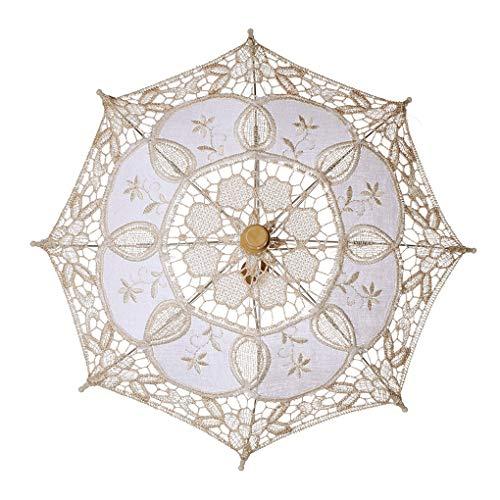 LEVEL GREATLace Holzgriff Transparent Langstieligen Dekoration Hochzeit Regenschirm-Tanz-Performance Regenschirm Fotografie Prop-Tanz-Performance-Tool