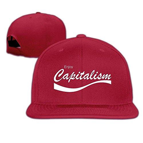 Zhkx Cap Enjoy Capitalism Pintura Rojo