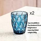 2 Unids/set Copas de Cristal sin Plomo resistentes al calor Vidrio colorido Vaso de Whisky Vaso de Cerveza Copa de Vino Bar Hotel Drinking Ware-1_201-300ml