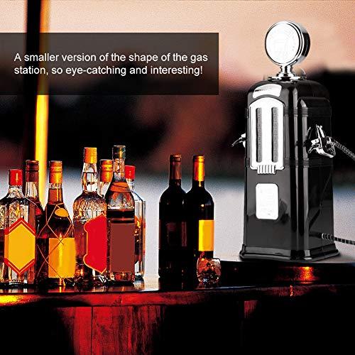 Weinspender, einfach zu bedienender Doppelkopf-Alkoholspender, für Bier, Alkohol, Wasser, Saft, Wein Restaurant Bar Zubehör Rot/Schwarz(black)