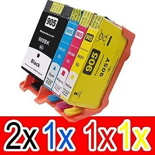 5 Pack Compatible HP 905XL Ink Cartridge Set (2BK,1C,1M,1Y) T6M17AA T6M05AA T6M09AA T6M13AA