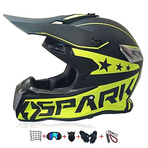Kindermotorradhelm , Kindermotorrad-Kreuzhelm (Schutzbrille, Handschuhe, Maske,...