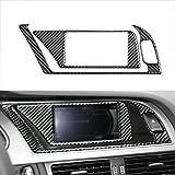 WDGXZM Interior del Coche de Repuesto Resistente al Desgaste de la decoración del Panel de GPS,para Audi B8 A4 A5 S4 S5