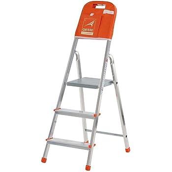 Gierre M262793 - Escalera aluminio kylate al140 4 peldaños: Amazon.es: Bricolaje y herramientas