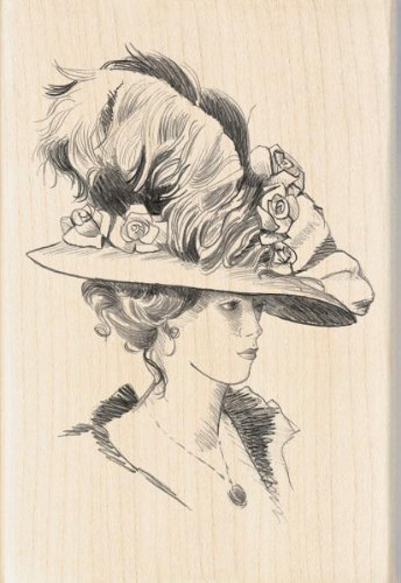 Inkadinkado Victorian Lady Wood Stamp lowhuba81