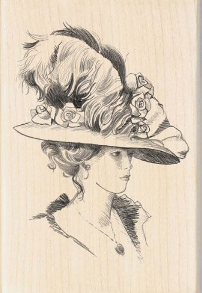 Inkadinkado Victorian Lady Wood Stamp